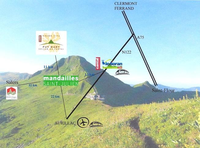 Carte touristique Mandailles Saint-Julien
