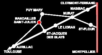 Carte Mandailles St-Julien