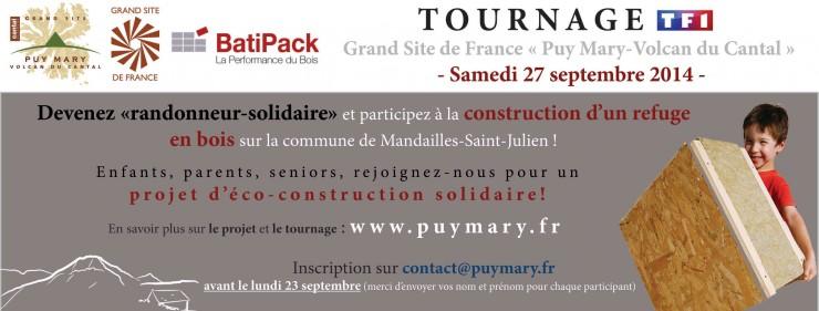 Tournage TF1 Randonneur solidaire - Mandailles Saint-Julien