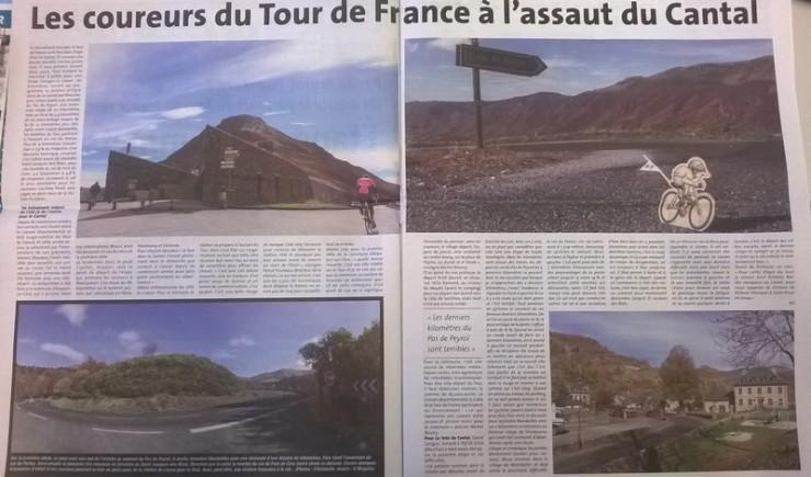 La voix du Cantal - Tour de France 2016 à Mandailles Saint-Julien